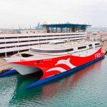 El nuevo fast ferry  'Levante Jet' de FRS Iberia comenzará a navegar la ruta Ceuta-Algeciras a partir del 8 de octubre